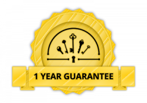 One year guarantee on locks