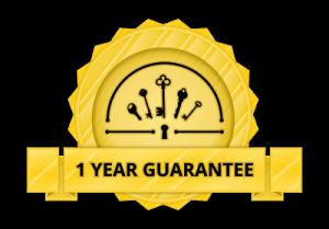 One year guarantee on locks